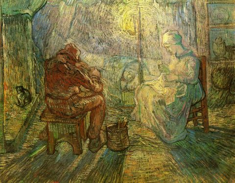 16-evening-the-watch-after-millet-1889(1)